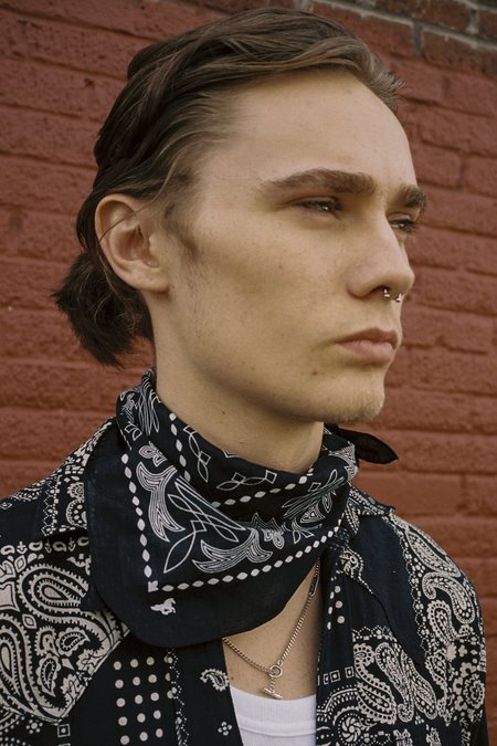 The Letters Cotton Western Bandana - Black