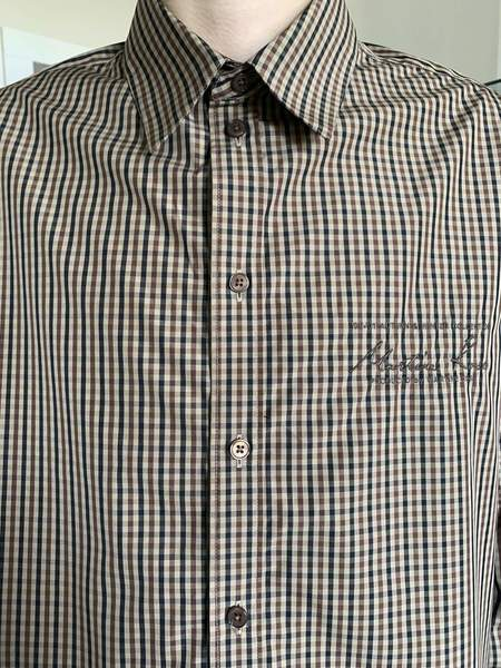 Martine Rose Classic Poplin Cotton Shirt - Brown Check