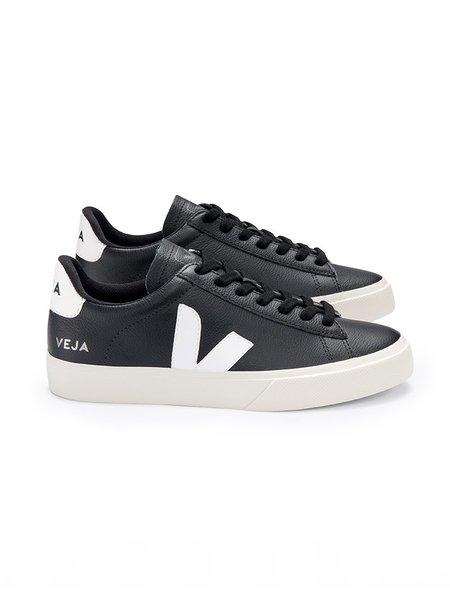 VEJA Campo Chromefree Leather - Black/White