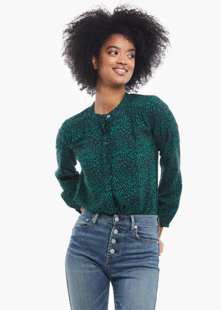ABLE Audrey popover blouse - Evergreen