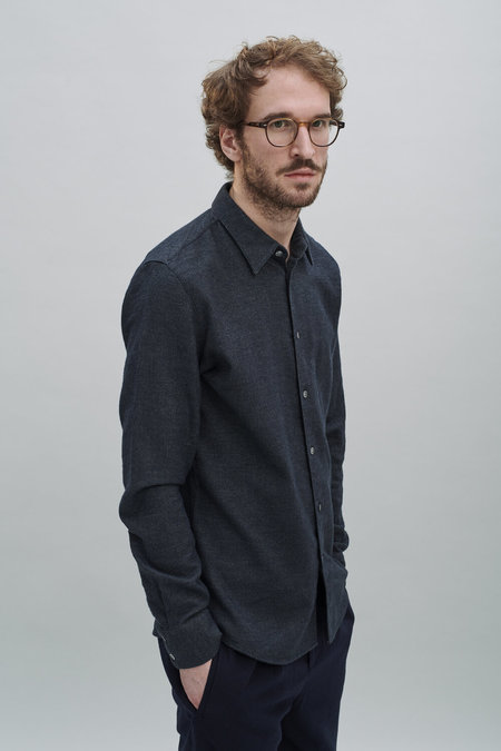 Delikatessen Feel Good Double Brushed Flannel Shirt - Anthracite