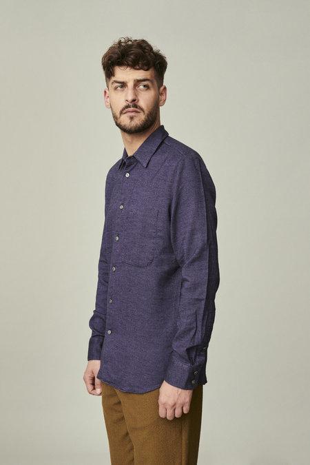 delikatessen Feel Good  Double Brushed Flannel Shirt - Black/Purple