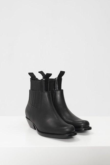 MM6 Maison Margiela Panelled Ankle Boots - Black