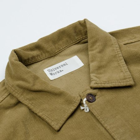 Universal Works Uniform Shirt in Fine Cord - Taupe