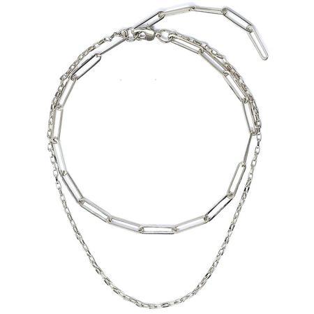Joomi Lim Double Chain Necklace - Rhodium
