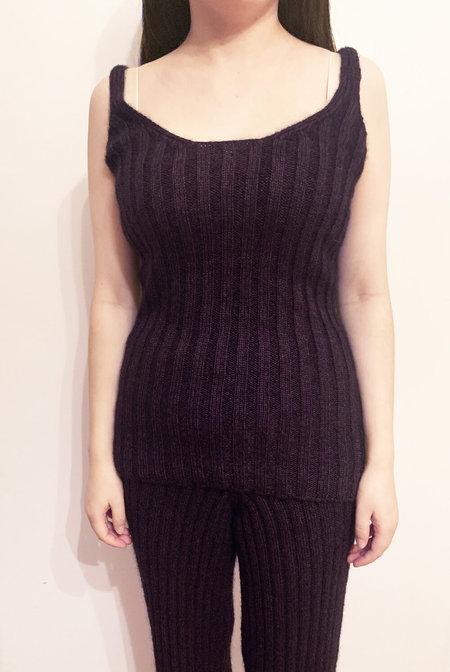 Base Range Mohair Cotton knit Simin Camisole - Purple