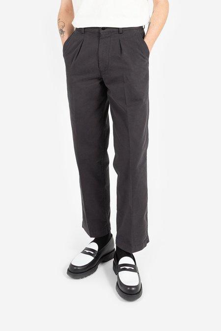 Knickerbocker Single Pleat Twill Trouser - Black