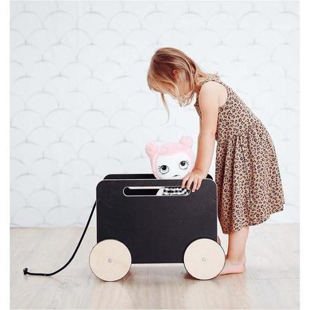 Kids Ooh Noo Blackboard Toy Chest On Wheels