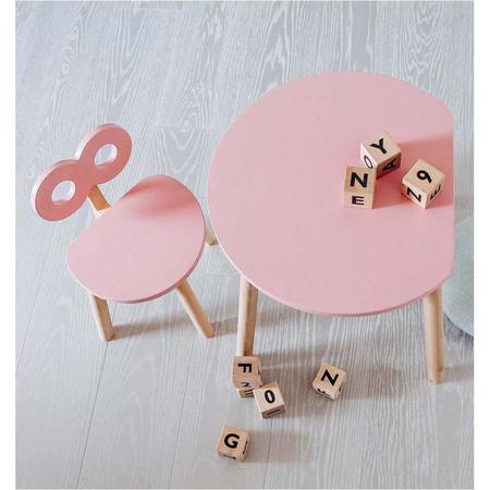 Kids ooh noo half-moon table - pink