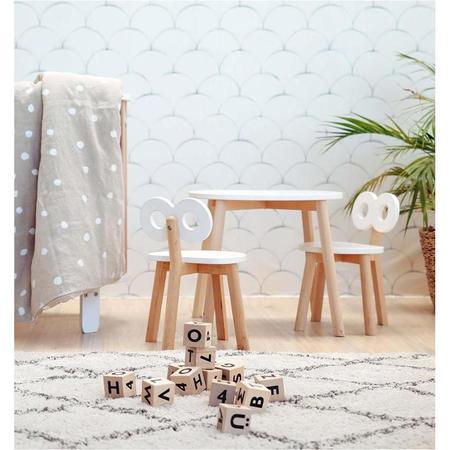 kids ooh noo double-o chair - white