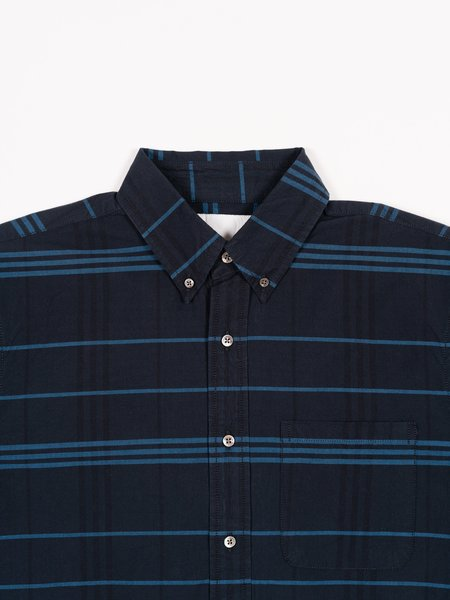Adsum Premium BD Shirt - Bright Blue Plaid