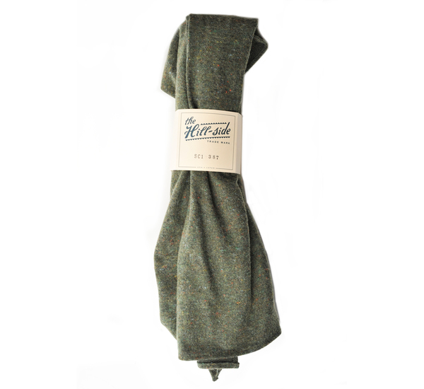 Unisex Olive Wool Galaxy Blend Scarf by The Hill-Side