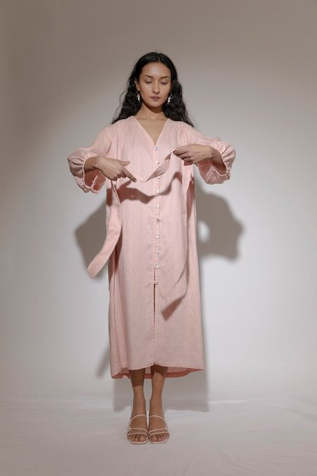 BEFORE MARCH Smock dress - Blush