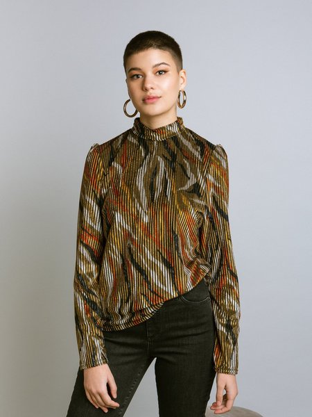 Marigold Nelly Blouse - Moss Print