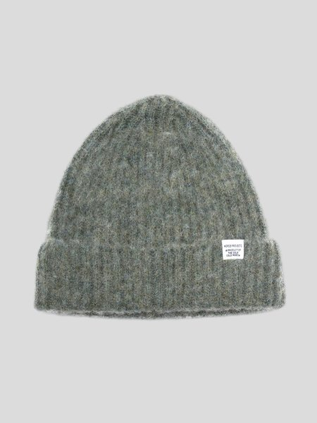 Norse Projects Marta Brushed Beanie - Cloudy Teal
