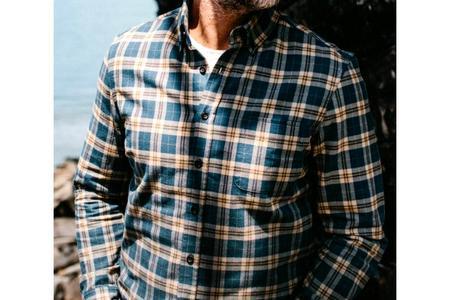 Taylor Stitch The Jack Shirt - Brushed Navy Plaid
