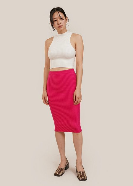 giu giu Nonna Tube Skirt - Dragon Pink