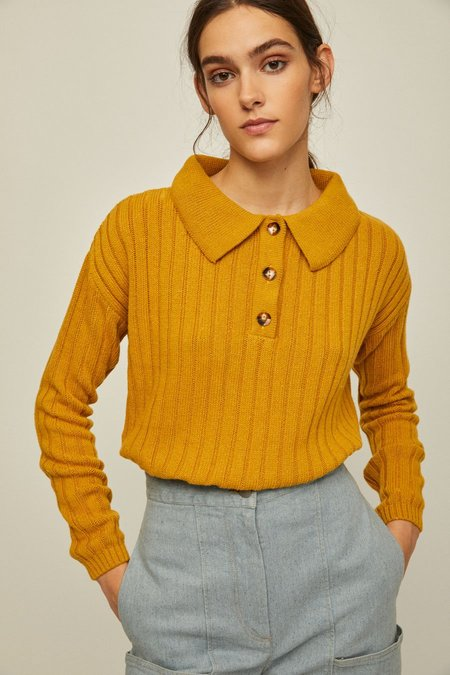 Rita Row Frida Polo Sweater - Mustard