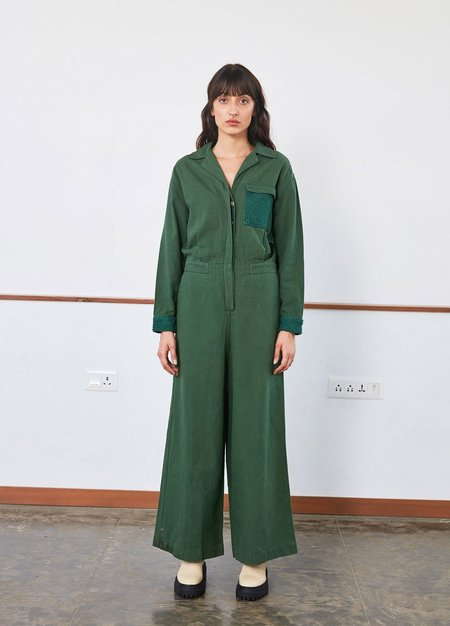 Rujuta Sheth Utility Jumper - Emerald
