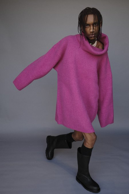 Marni Boiled Oversized Shetland Wool Turtleneck Sweater