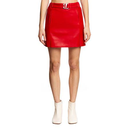 MISBHV Leather mini skirt - red