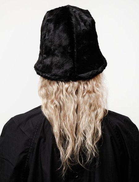Y's by Yohji Yamamoto Plush Hat - Black