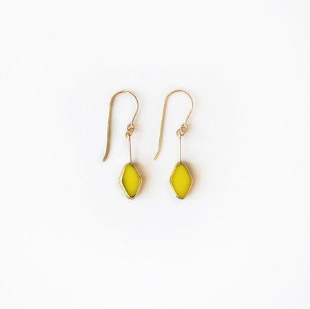 I. Ronni Kappos Small Diamond Shape Drop Earrings