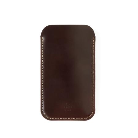 UNISEX MAKR Cordovan iPhone Sleeve case - Ox Blood