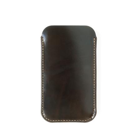 MAKR Cordovan iPhone Sleeve Case - Dark Cognac