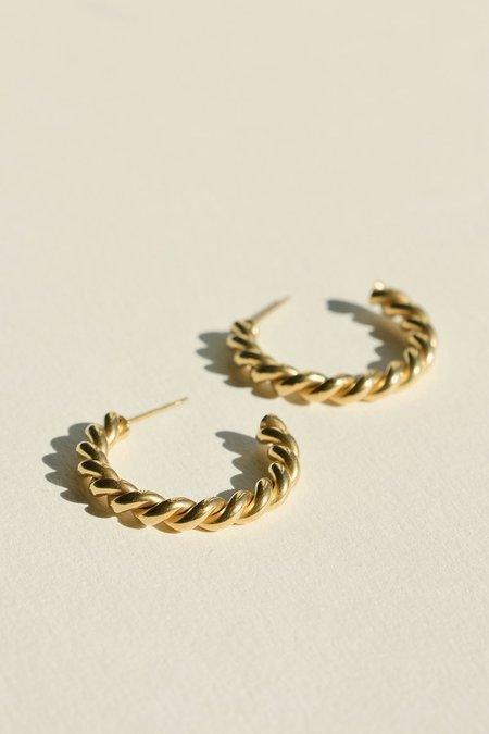 BRIE LEON Large Twist Stud Earrings - Gold Plated/steel
