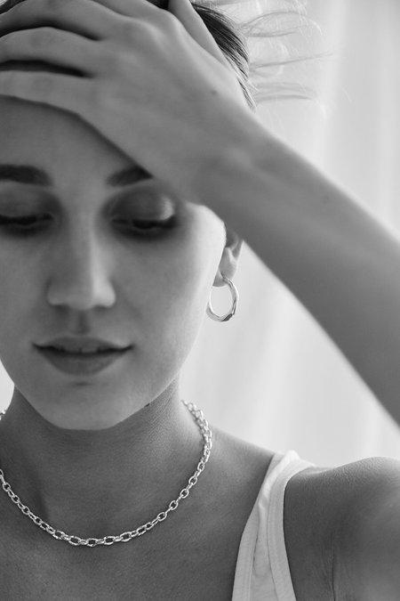 BRIE LEON Organica Small Hoop Earrings - Silver
