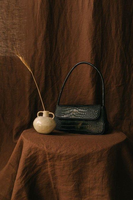 BRIE LEON The Camille bag - Black Matte Croc