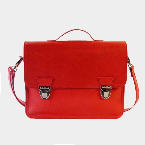 Miniseri Large Red Glossy School Bag - Dodo Les Bobos