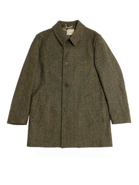 La Paz Heavey Overcoat - Dark Green/Camel
