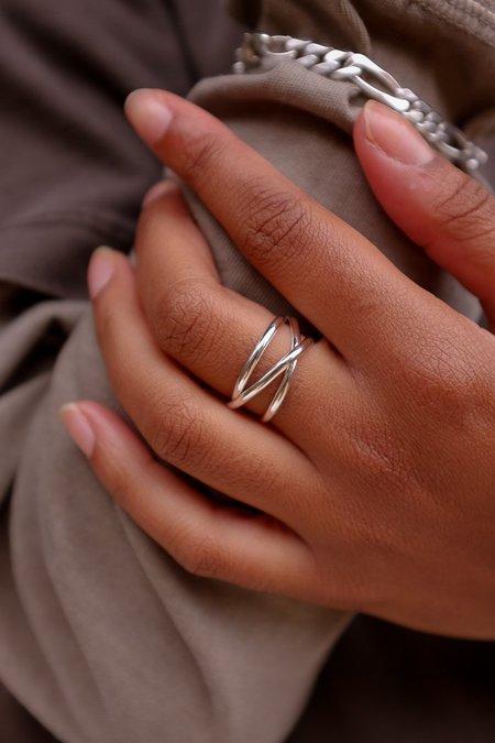 Hannah Naomi Infinity Spiral Ring - Silver
