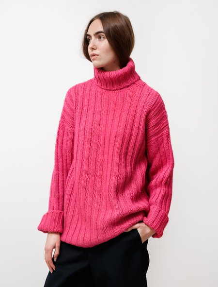 Our Legacy Large Rib Turtleneck - Bubblegum