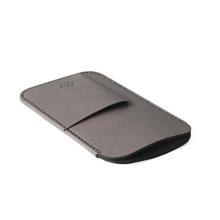 UNISEX MAKR iPhone Card Sleeve Case - Charcoal Horween