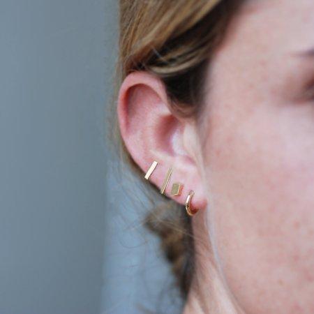 Meus Bar Post Earrings - 14K Gold
