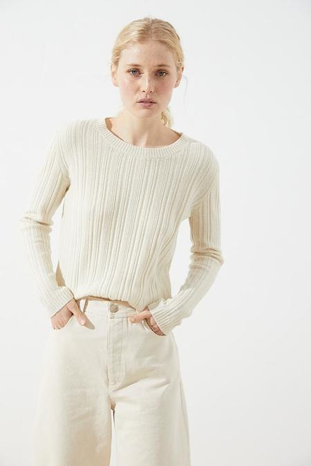 CUS Salang merino wool pullover - off white