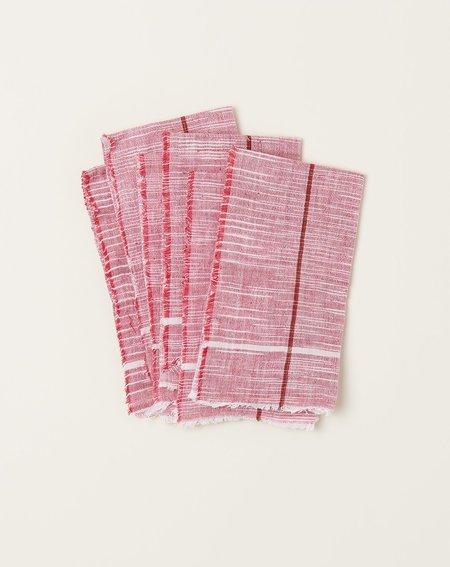Auntie Oti Napkin Set - Red Space Dye