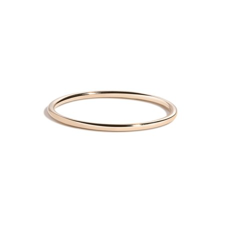 unisex Shahla Karimi Barely There Plain Band - 14K Yellow Gold/White/Rose Gold