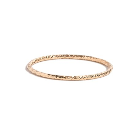 Unisex Shahla Karimi Barely There Twisted Rope Band - 14K Yellow Gold