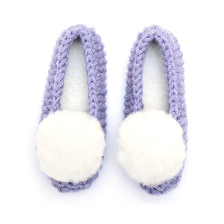 Ariana Bohling Ballerina Pom Alpaca Slipper - Lilac
