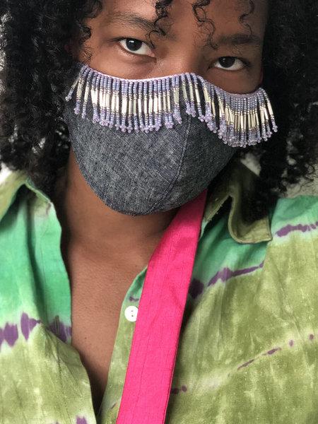 Abacaxi Beaded Fringe Mask