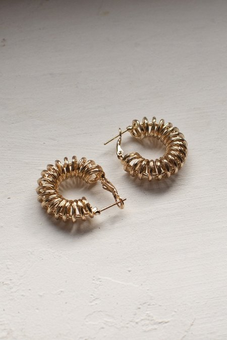Reliquia Spiral Hoop Earrings - Yellow 18ct Gold Filled