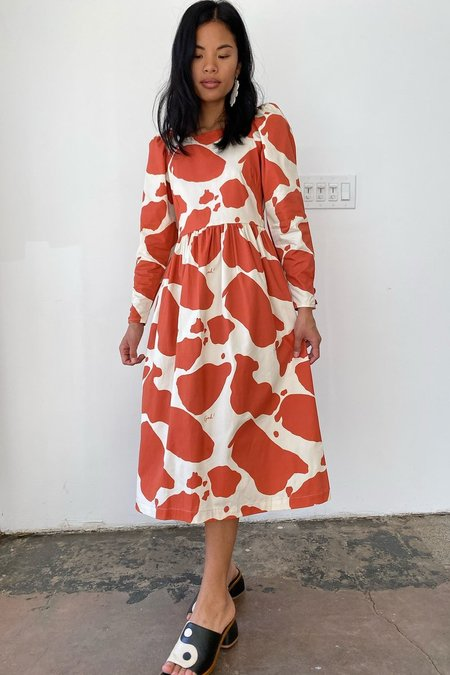 Lisa Says Gah Maddie Midi Dress - Moo Print