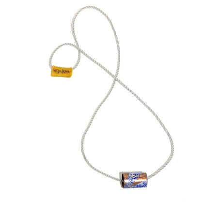 DISTILL GALLERY Enamel Tube on Cord Necklace - Copper