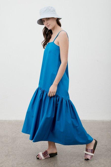 Milk & Thistle Ritual Linen Dress - Cobalt
