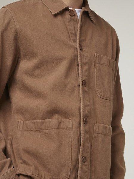 Wax London Chet Jacket - Brown Heavy Denim