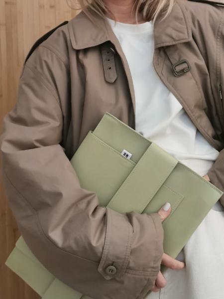 Vintage Oversized coat - light green